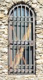 A gated door. A locked up and gated doorway Royalty Free Stock Photos