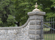 Gated entrance. This gate is guarding the cemetery at Gettysburg royalty free stock photo