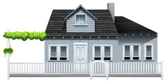A gated house. On a white background Stock Photo