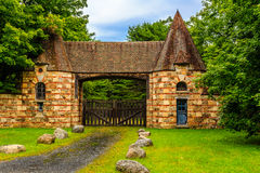 Gatehouse in Acadia National Park Stock Photo