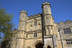 Gatehouse of Battle Abbey in Sussex. The impressive gatehouse of Battle Abbey in East Sussex, UK stock photos