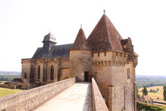 Gatehouse chateau de biron, dordogne france Royalty Free Stock Photo