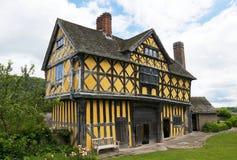 Gatehouse de château de Stokesay photo stock