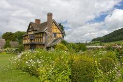 Gatehouse de château de Stokesay photos stock