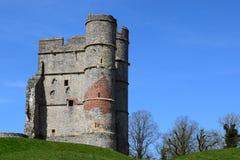 Gatehouse del castello di Donnington (vista laterale) - Newbury fotografia stock