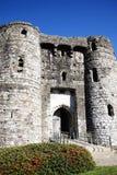 Gatehouse del castillo de Kidwelly Imágenes de archivo libres de regalías