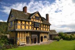 Gatehouse del castillo de Stokesay - Shropshire Foto de archivo libre de regalías