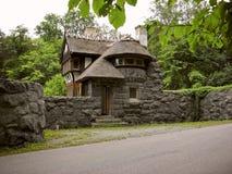 Gatehouse del castillo en Suecia Imágenes de archivo libres de regalías