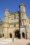 Gatehouse dell'abbazia di battaglia in Sussex immagini stock