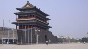 Gatehouse di Zhengyangmen in piazza Tiananmen video d archivio