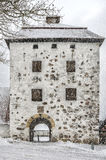Gatehouse Hovdala Slott im Winter Lizenzfreie Stockfotos