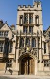 Gatehouse médiéval, université de Brasenose, Oxford photos stock