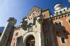 Gatehouse of Neuschwanstein Castle Stock Image