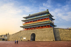 Gatehouse at Tiananmen Square Royalty Free Stock Photography