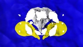 Gaten in de vlag van Brussel stock illustratie