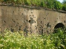 Gaten van kogels Stock Foto's