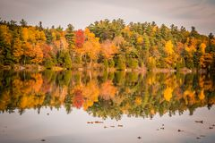 GATENAU,魁北克/加拿大- 2017年10月21日:在OTTAW的秋天视图 图库摄影