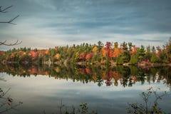 GATENAU,魁北克/加拿大- 2017年10月21日:在OTTAW的秋天视图 库存图片