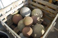 Gatepost balls Stock Photography