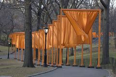 The Gates. In Central Park stock image
