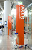 Gates airport terminal Warsaw Royalty Free Stock Photography
