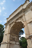 Gates in ancient rome. Decorated gates in ancient area in Rome Stock Images