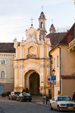 Gates Basilian Monastery. The gate leading from the street into the courtyard of the monastery Basilian Stock Photo