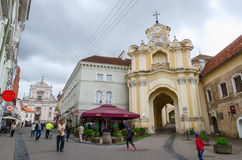 Gates of Basilian monastery and Church of Saint Therese on Ausro Royalty Free Stock Photo