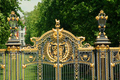 Gates at Buckingham Palace Royalty Free Stock Photo
