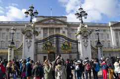 Buckingham place. The gates of buckingham place in london, england Royalty Free Stock Image