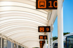 Gates at bus station Royalty Free Stock Images