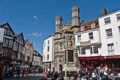 The Gates of Canterbury Cathedral and Buttermarket. Royalty Free Stock Photography