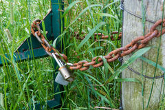 The gates on the chain Stock Photography