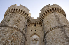 Gates. Of the citywall in city of Rhodes Stock Photos