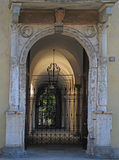 Gates in classic style, Verona. The gates in classic style, Verona, Italy Royalty Free Stock Photography