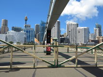 Gates closed on Pyrmont Bridge in Darling Harbour Stock Image
