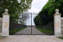 Gates of a Country Estate. Ornate Gateway of a Country Estate stock images