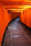 gates den japan kyoto toriien Arkivfoton