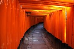 gates den japan kyoto toriien Royaltyfri Bild