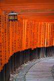 gates den kyoto toriien Royaltyfri Fotografi