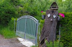 Gates and Drive of a Country Estate. A Gate and Drive of a Country Estate in Germany royalty free stock images