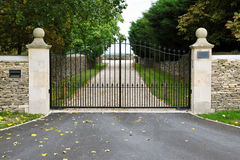 Gates and Driveway Stock Image