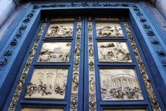 Gates of Duomo Baptistry, Florence, Italy Stock Photo