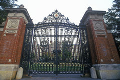 Gates at entrance to Brown University, Providence, RI Stock Photography