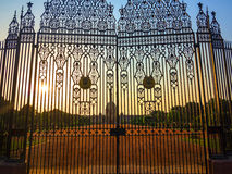 Gates at entrance to House Royalty Free Stock Images