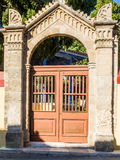 Gates at entrance to Suleiman Mosque of Rhodes. Greece Stock Photography