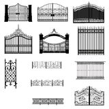 Gates fences silhouette Stock Photography