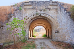 Gates in fortress in Kerch, Crimea Stock Images
