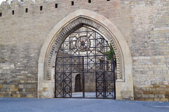 Gates of the fortress. Old sity Baku Royalty Free Stock Photo