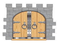 Gates in fortress Stock Image